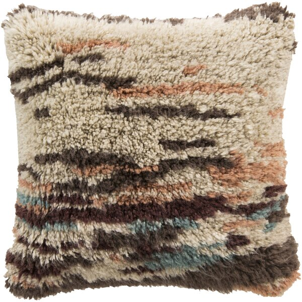Shoko 100% Wool Throw Pillow Cover by Brayden Studio